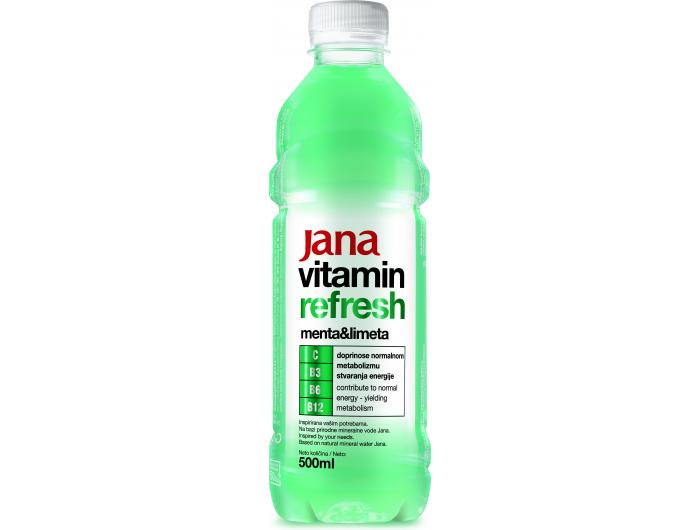 Jana Vitamin refresh aromatizirana voda menta i limeta 0,5 L