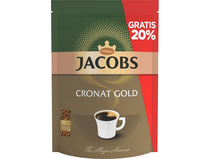 Jacobs Cronat Gold Instant kava 75 g + 20 % GRATIS