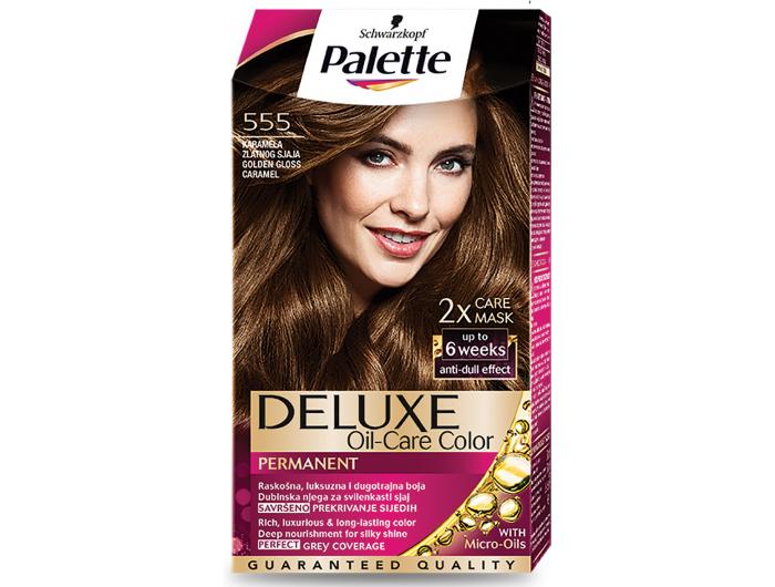 Palette Deluxe 555 karamela zlatnog sjaja boja za kosu 1 kom