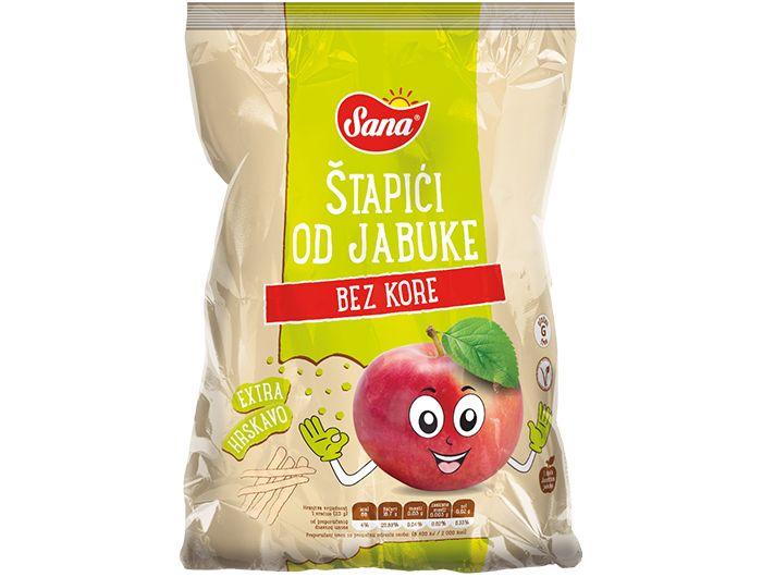 Štapići od jabuke, 25 g, bez kore, Sana