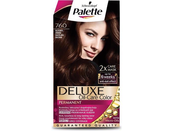 Palette Deluxe 760 blistavo smeđa boja za kosu 1 kom