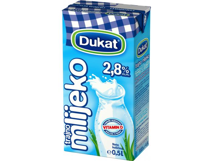 Dukat trajno mlijeko 2,8 % m.m. 0,5 L