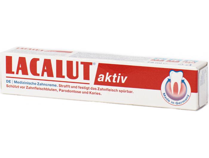 Lacalut Aktiv medicinska zubna pasta 75 ml
