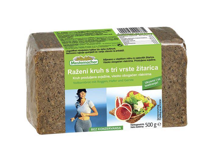 Kruh s 3 vrste žitarica 500 g