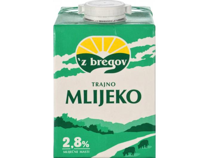 Vindija 'z bregov trajno mlijeko 2,8 % m.m. 0,5 L