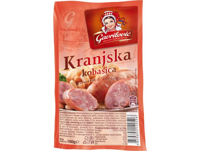 Gavrilović Kranjska kobasica 160 g