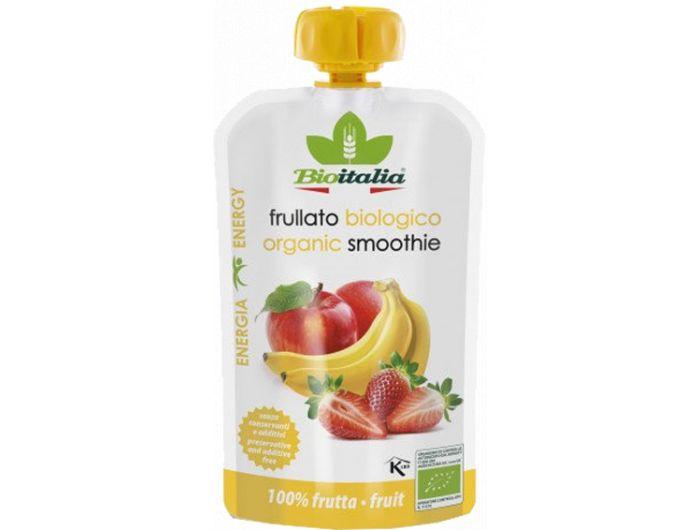 Bio smoothie, 120 g, jabuka, jagoda i banana, BioItalia