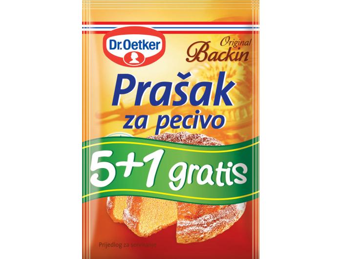 Dr. Oetker Prašak za pecivo 6x12 g 5+1 GRATIS