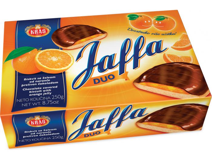 Kraš Jaffa biskvitni desert, 250 g, sa želeom od naranče i preljevom od čokolade