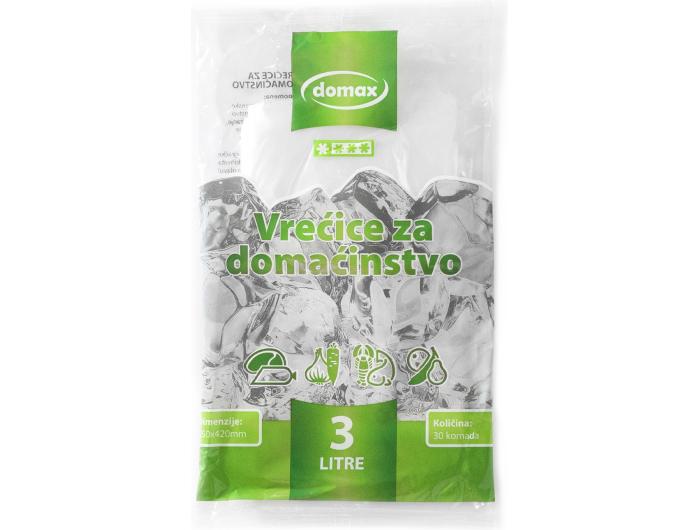 Domax vreće za domaćinstvo zapremina: 3 L 1 pak 30 kom