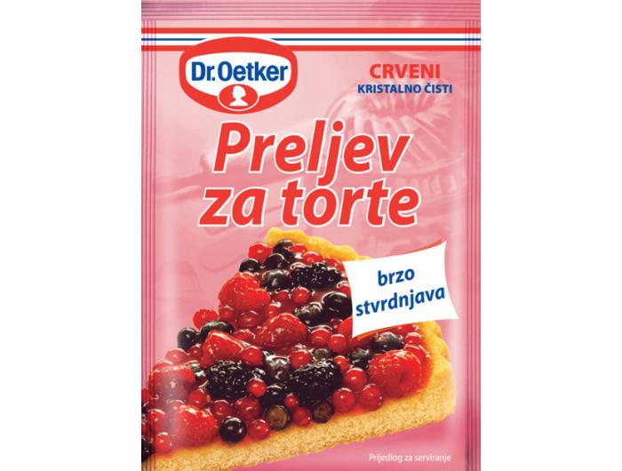Dr. Oetker Preljev za torte crveni 12 gr