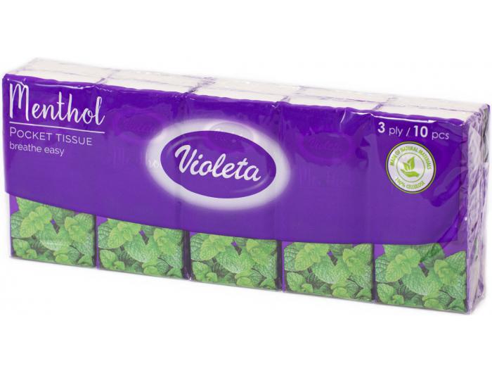 Teta Violeta maramice mentol 10 kom
