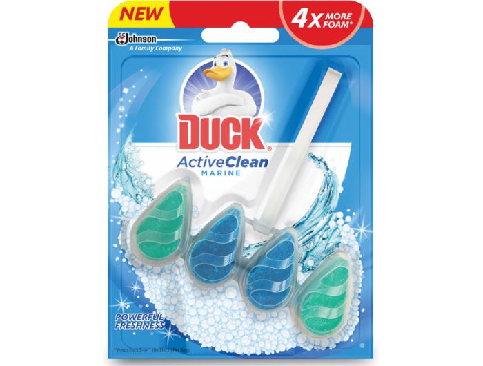 Duck  Active clean sredstvo za čišćenje i osvježavanje wc školjke Marine 38,6 ml