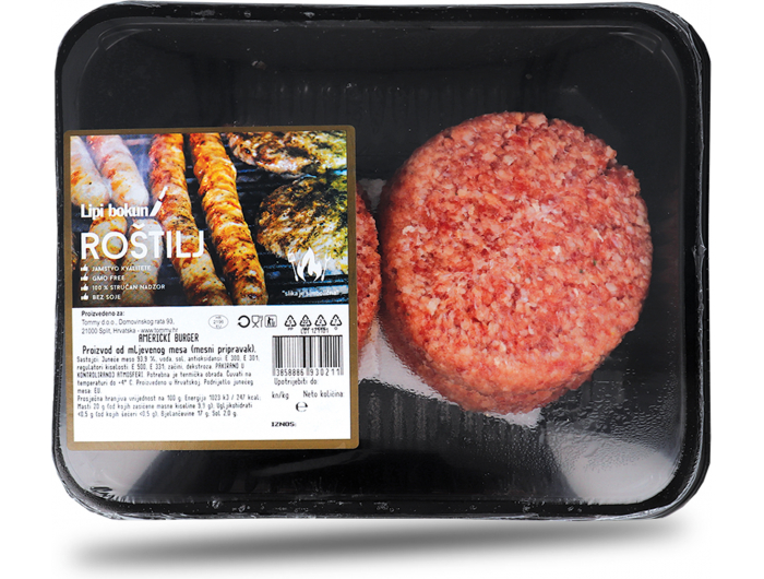 Delicato Američki burger 600 g