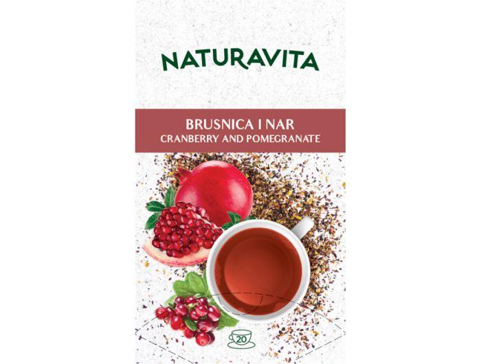 Naturavita čaj brusnica i nar 20x2,3 g