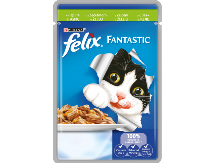 Felix Fantastic hrana za mačke sa zečetinom u želeu 100g