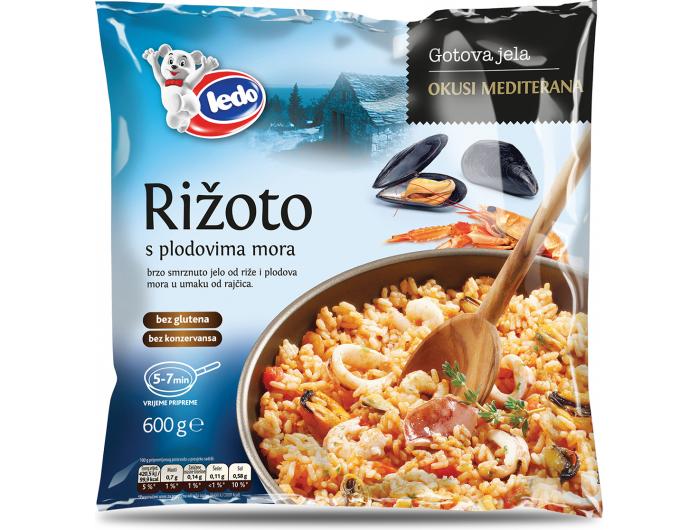 Ledo rižoto s plodovima mora 600 g