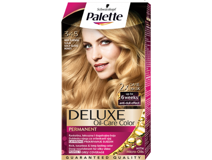 Palette Deluxe 345 med zlatnog sjaja boja za kosu 1 kom