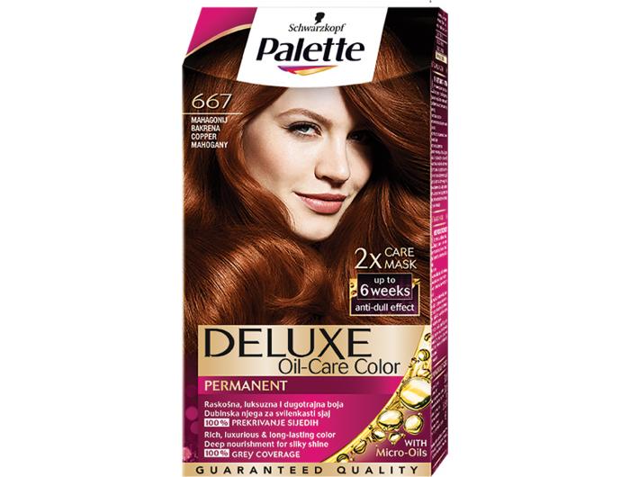 Palette Deluxe 667 mahagonij bakrena boja za kosu 1 kom
