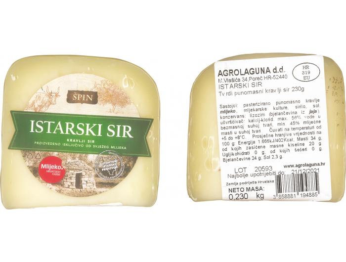 Špin Istarski kravlji sir 230 g