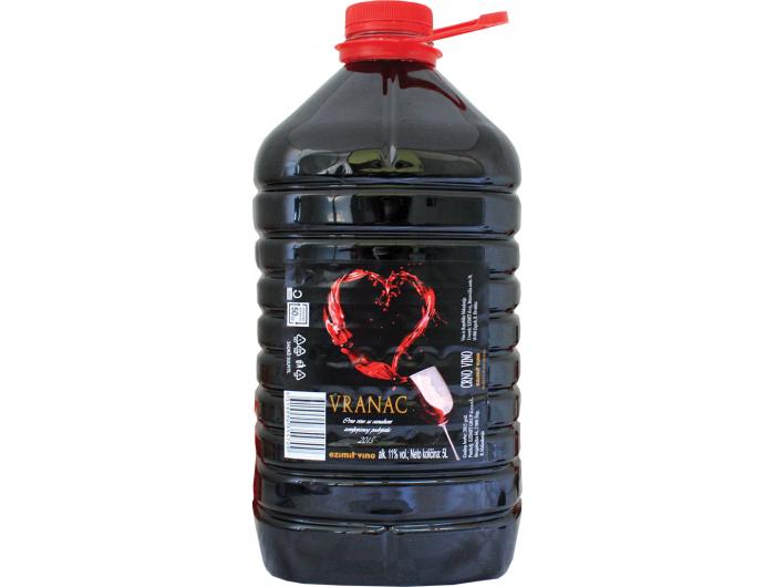 Dalvina Vranac crno vino 5 L