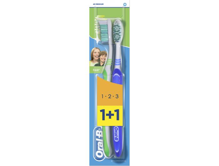 Oral B 3Effect Četkica za zube Natural Fresh  1+1 gratis