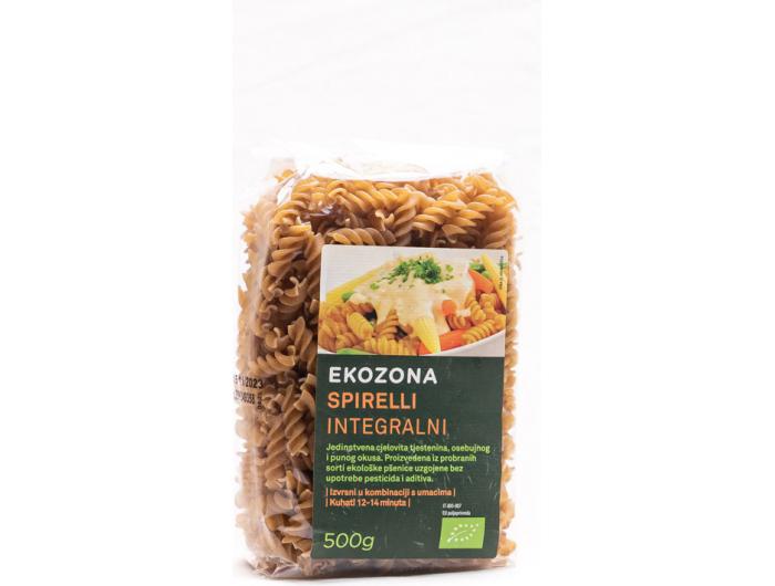 Ekozona BIO tjestenina integralna spirelli 500 g