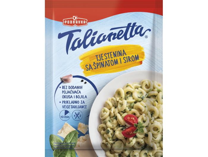 Podravka Talianetta tjestenina sa špinatom i sirom 155 g
