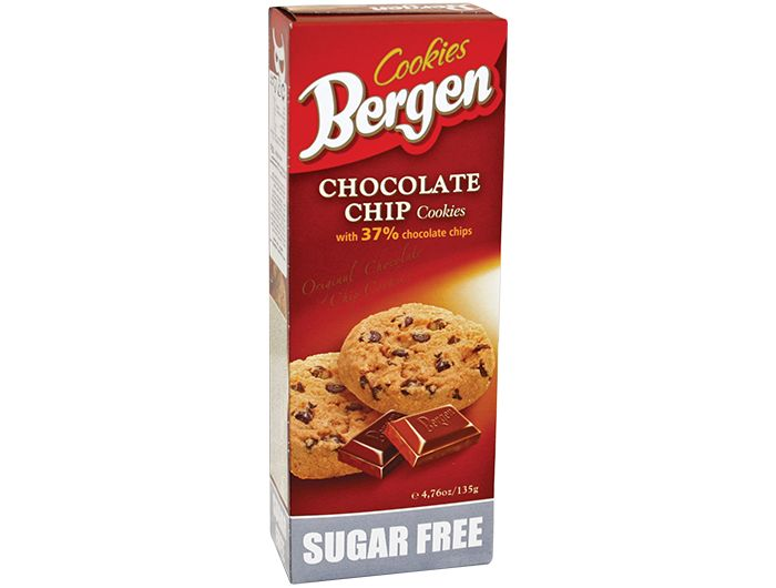 Keks, 135 g, s komadićima čokolade, Bergen
