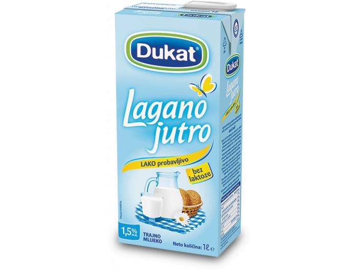Dukat Lagano jutro trajno mlijeko 1 L 1,5% m.m.