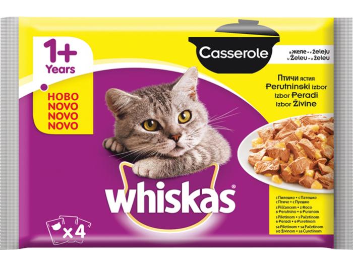 Whiskas hrana za mačke 4*85 g