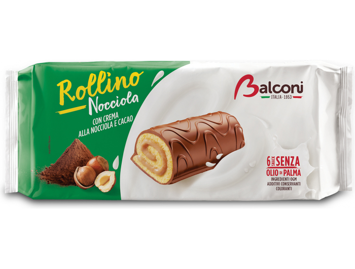 Balconi Rollino Rolat s kremom od lješnjaka 6x37 g