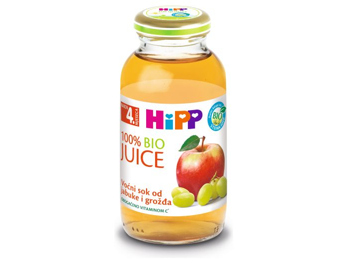 Hipp bio sok grožđe i jabuka 200 ml