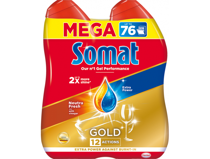 Somat Gold Gel grease cutting 2x684 ml