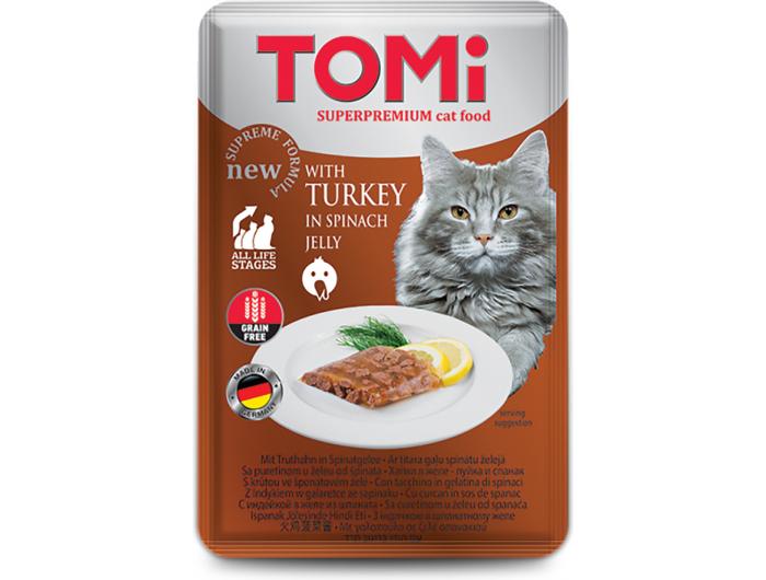 Tomi hrana za mačke puretina u umaku od špinata 100 g