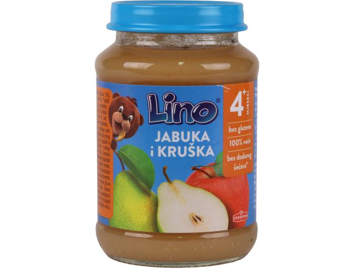 Podravka Lino Dječja kašica jabuka i kruška 190 g