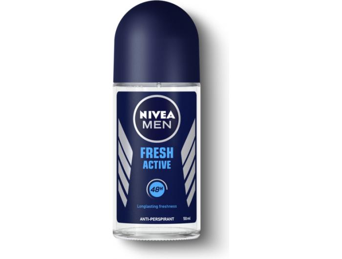 Nivea men dezodorans roll-on fresh active 50 ml