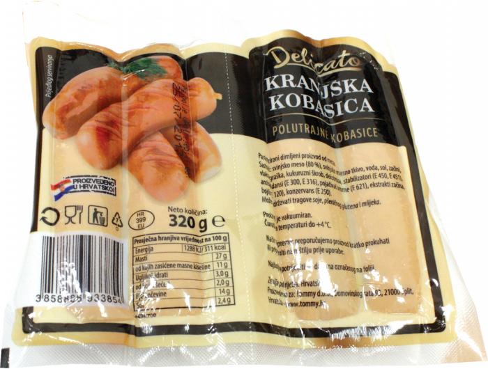 Delicato Kranjska kobasica 320 g