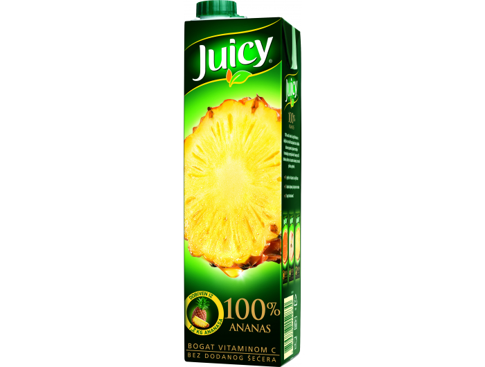 Juicy Sok 100% ananas 1 l