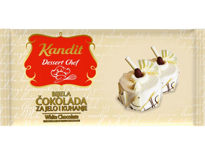 Kandit Desert Chef bjela čokolada za jelo i kuhanje 200 g