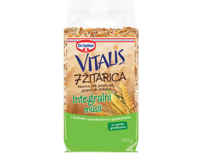 Dr.Oetker Vitalis sedam vrsta žitarica integralni muesli