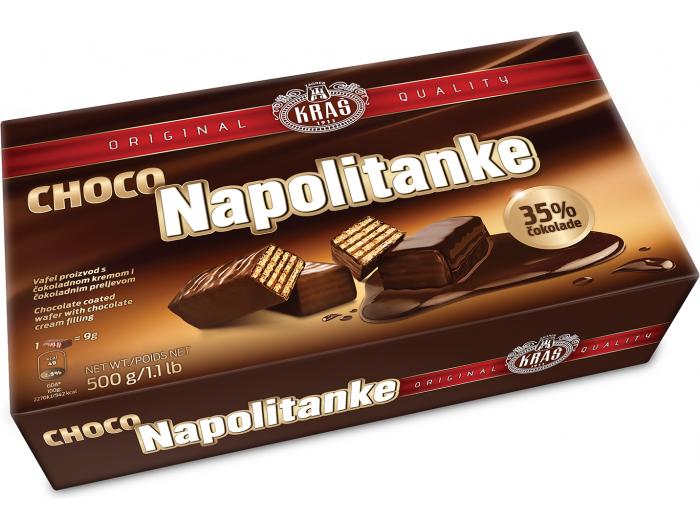 Kraš napolitanke s čokoladnim preljevom 500 g