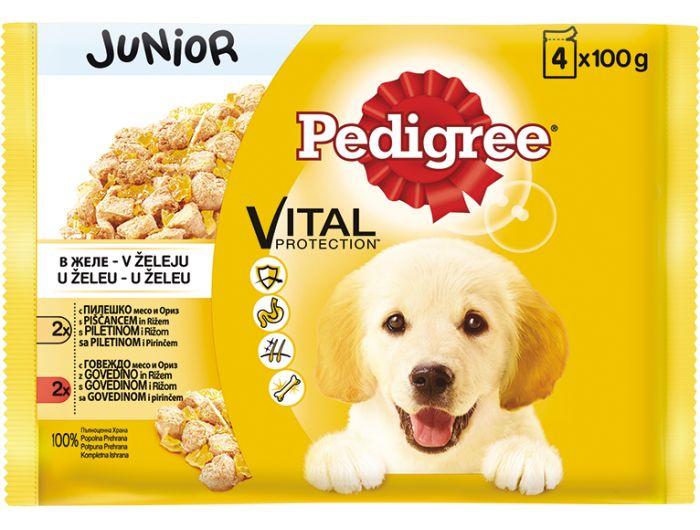 Pedigree Junior hrana za pse 1 pak 4x100 g