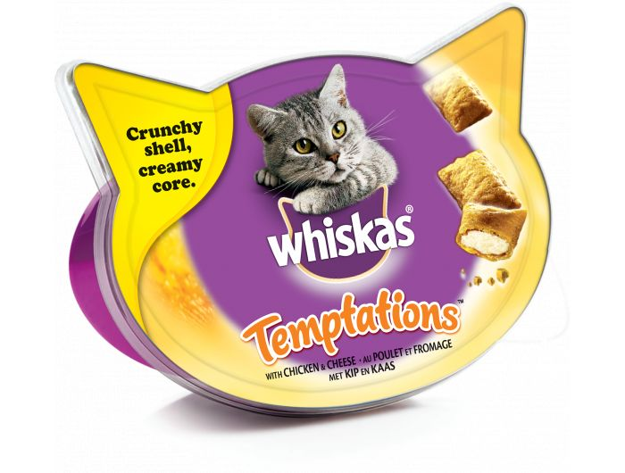Whiskas Hrana za mačke tempations piletina i sir  60 g