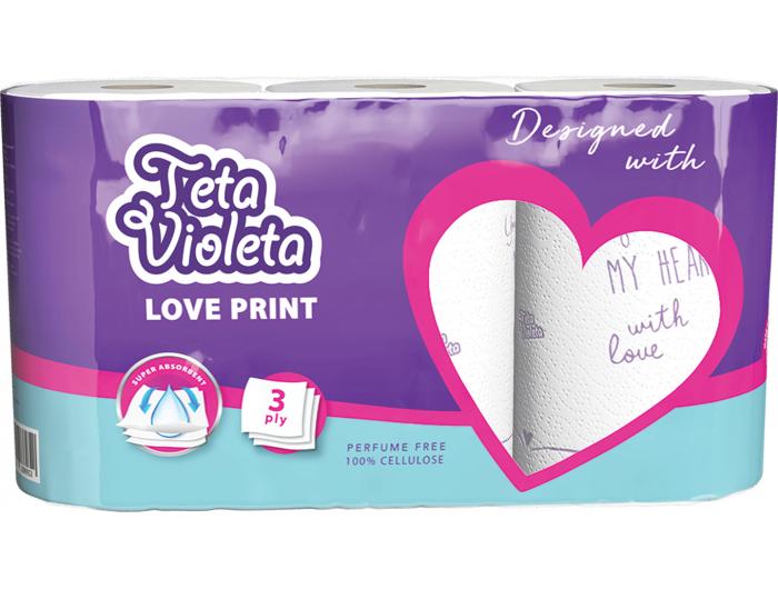Teta Violeta Papirnati ručnici 3 kom