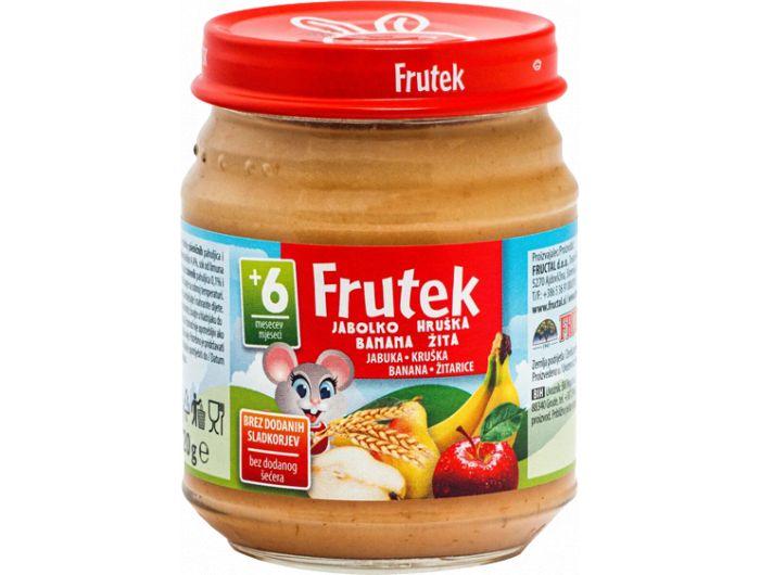 Dječja hrana, 120 g, jabuka/žitarice, Frutek