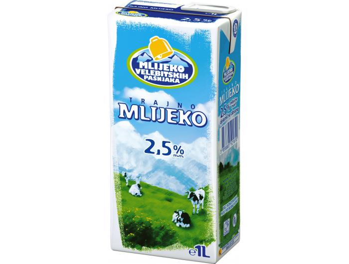 Mlijeko velebitskih pašnjaka trajno mlijeko 2,5% m.m. 1 L