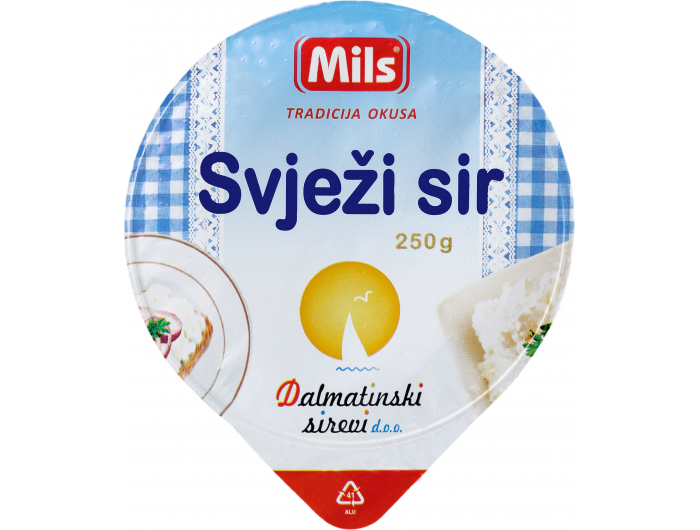 Mils Dalmatinski sirevi svježi sir 250 g