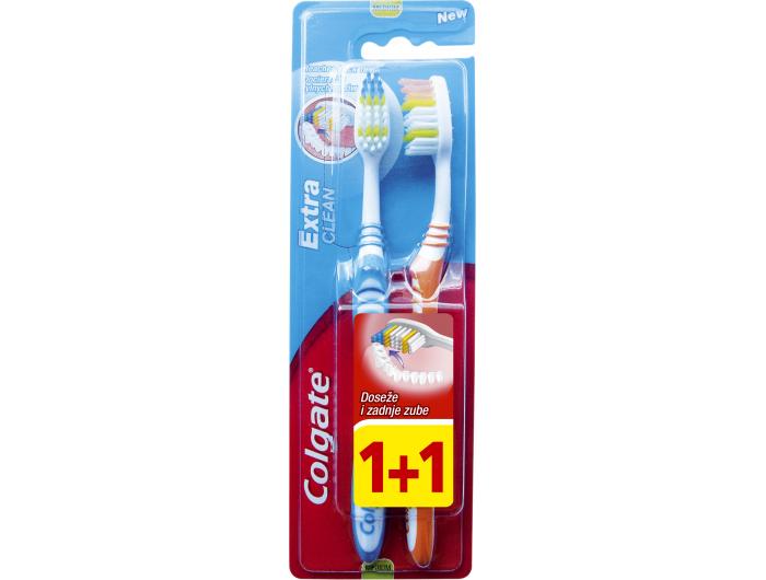 Colgate  Četkica za zube Extra Clean 1+1 kom