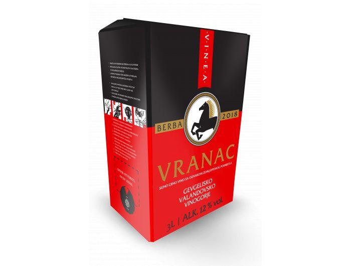 Vinea Vranac kvalitetno crno vino 3 L